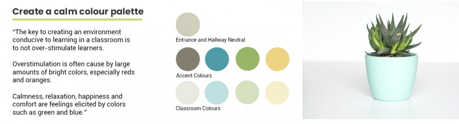 Calming colours for classrooms and schools