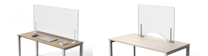 Desk Top Glass Acrylic Screens Covid-19 protection