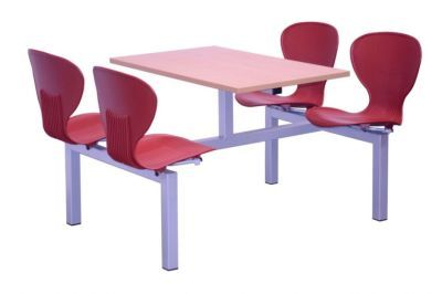 Four Seater Burgundy Dining Unit