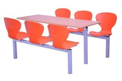 Six Seater Orange Dining Unit