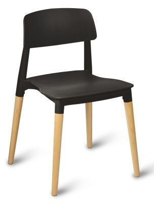 Jendo Poly Beech Chairs Black Seat