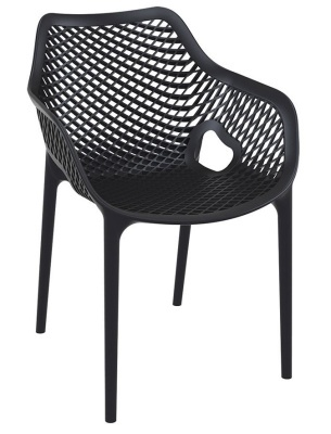 Percy Black Plastic Outdoor Chair