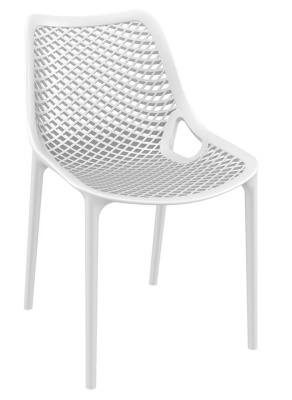 Percy White Outdoor PLastijc Side Chair