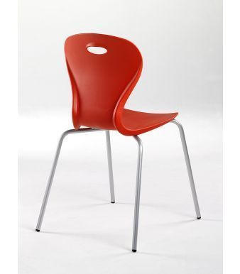 Solar General Purpose Seating In Red From An Angle