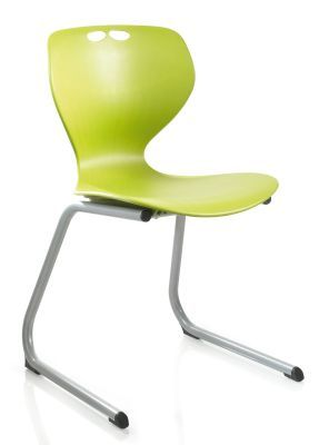 Matal Reverse Cantilever Multipurpose Chair In Green