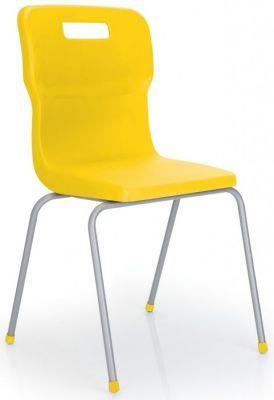 Titan 4 Leg Classroom Chair In Yellow