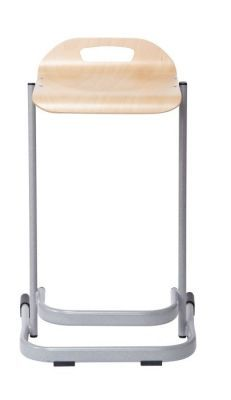 35 Series High Stools In Beech And Grey Frame Frontal View