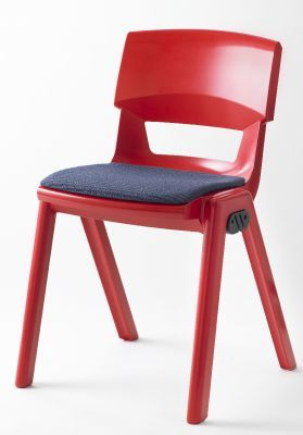 Postura Plus Red Classroom Chair With Seat Pad