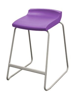 Postura Plus High Stool With Purple Seat