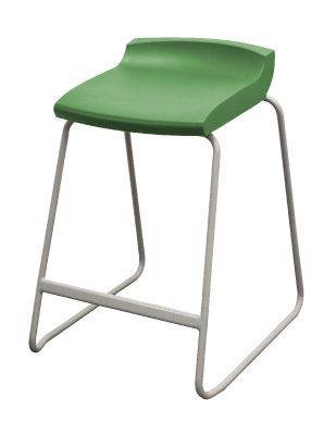 Postura Plus High Stool With A Green Seat