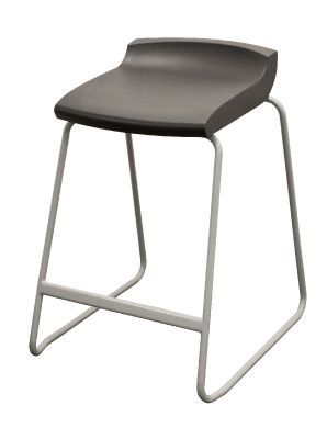 Postura High Stool With A Black Seat