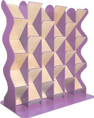 Colourway Zig Zag Book Diaplay Three Bay In Lilac