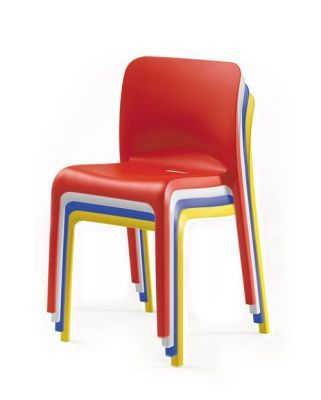POP Red,white,blue And Yellow Stackable Heavy Duty Chairs