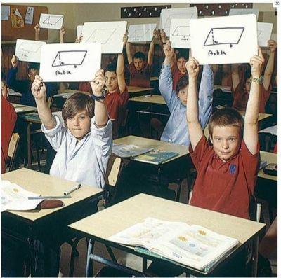 Classroom Using Hand Held Whiteboards