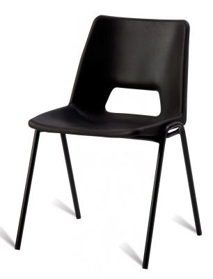 PP1 Black Polypropylene Chair