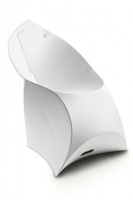 Flux Folding Plastic Chair In White