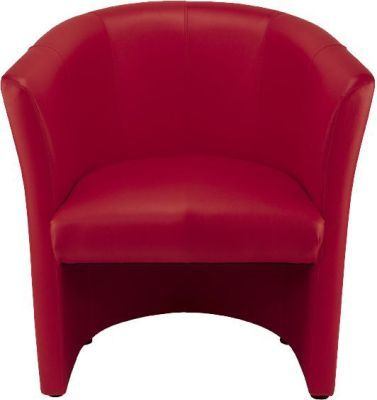 Club Tub In Faux Lether Red Front Facing