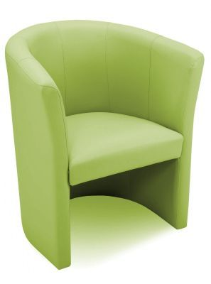 Club Lime Green Faux Leather Tub Chair
