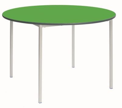 Ms Fully Welded Circular Table Green Top