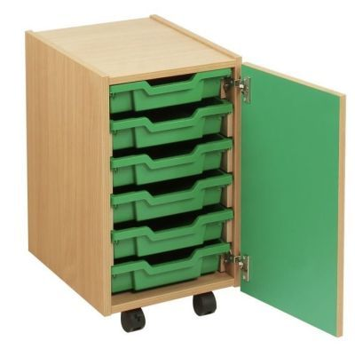 Smartie Mobile Classroom Storage Cupboard With Drawers