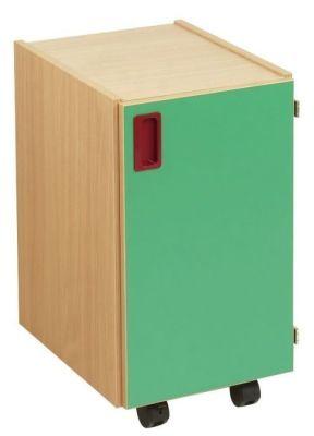 Smartie Mobile Classroom Storage Cupboard With Green Door