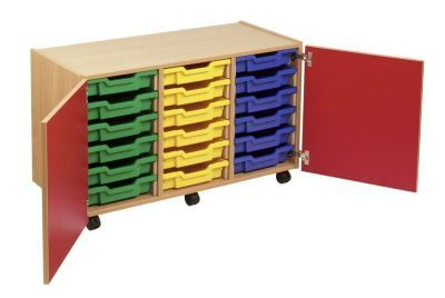 Smartie 18 Mobile Classroom Cupboard With Multiple Drawer Storage Options
