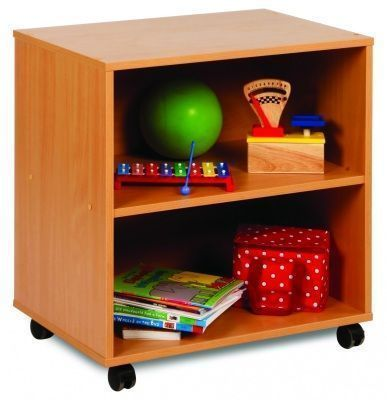Draw, See And Store Shelving Unit With Open Front