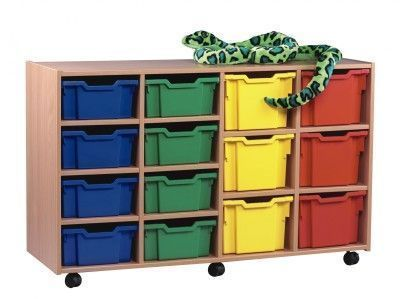 Multi Coloured Classroom Multi Tray Storage Unit 2 With Toy Snake