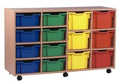 Multi Coloured Classroom Multi Tray Storage Unit 2