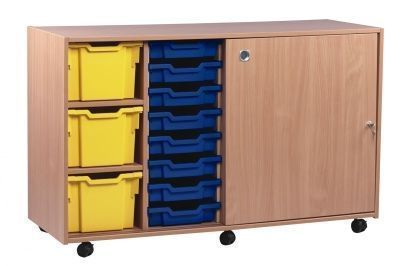 Mobile Classroom Multi Tray Storage Unit 3