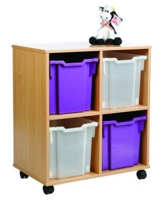 Mobile All Sorts Stackable With 4 Clear And Purple Jumbo Trays With Cow Toy