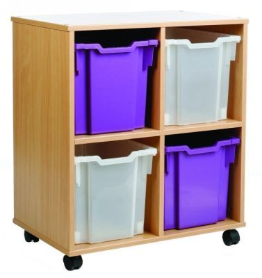 Mobile All Sorts Stackable With 4 Clear And Purple Jumbo Trays