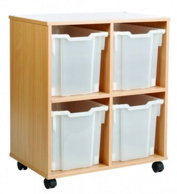 Mobile All Sorts Stackable With 4 Clear Jumbo Trays