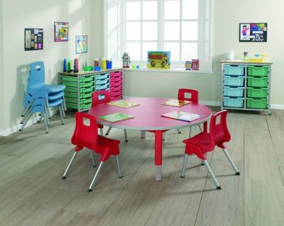 Start Right Round Height Adjustable Classroom Table 2