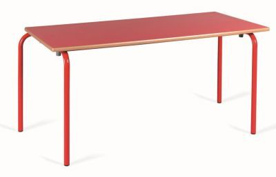 Red Rectangular Classroom Table
