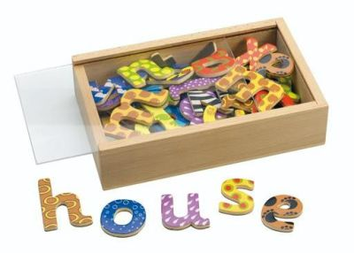 Magnetic Wooden Letters Compressed