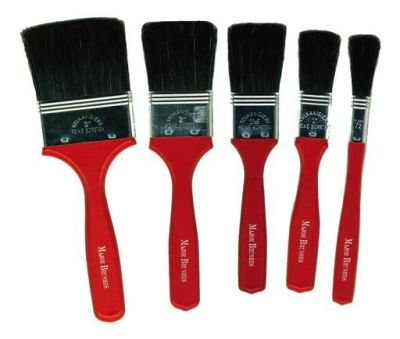 Large Hog Flat Tip Brushes Compressed