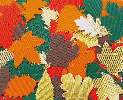 Corrugated Autumn Leaves Compressed