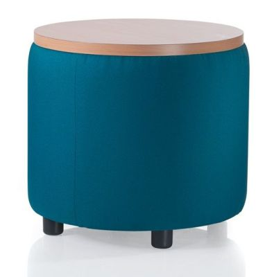 E Link Round Stool With A Wooden Top