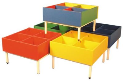 Kinderboxes With A Metal Fframe