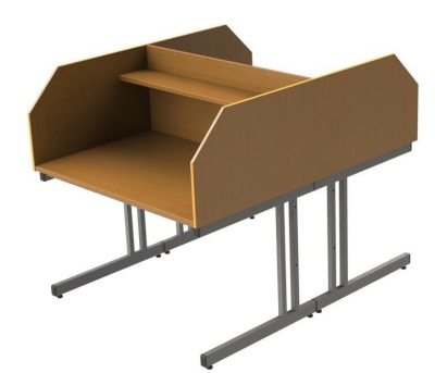 GM Double Study Booth With A Cantilever Frame