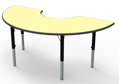 Theme Arc Height Adjustable Table Pastel Lemon Top