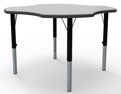 Clover Height Adjustable Classroom Tables With A Grey Top