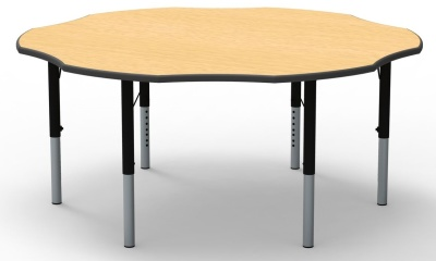 Flower Height Adjustable Classroom Table Wit A Beech Top