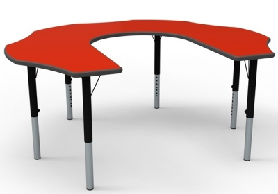 Teachesr Flower Height Ad Justable Theme Table With Red Top