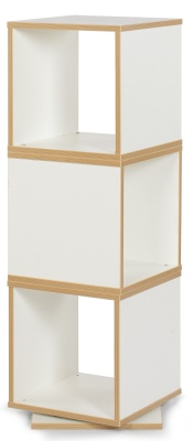 MZ White Swivel Cube Storage
