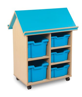 Book House With Three Deep Trays And Two Extra Deep Trays