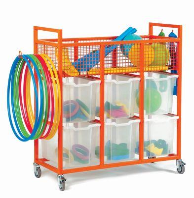Mz Steel Sports Equipment Trolley