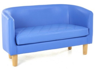 TYrone Two Seater Sofa In Blue