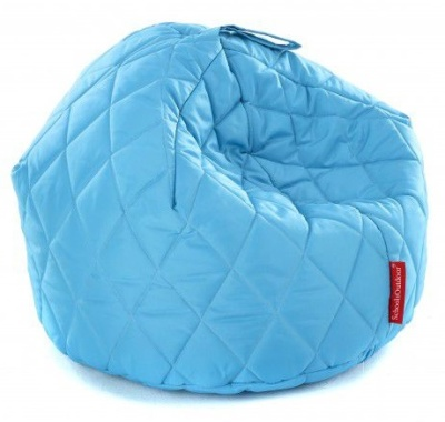 Sayu Largge Quilted Bean Bag In Light Blue